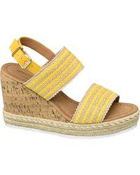 graceland Gele Sandalette Jute - Geel