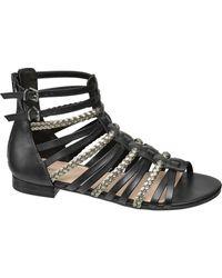 graceland E Romeinse Sandaal - Zwart