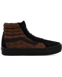 Vans Tiny Cheetah Comfycush Sk8-hi Reissue Shoes - Black