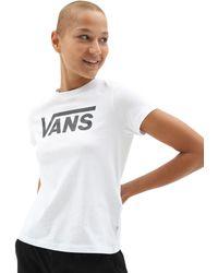 Vans Flying V Rundhals-t-shirt - Weiß
