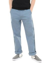 Vans Authentic Chino Pro Taped Trousers - Blue