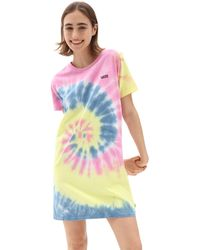 Vans Spiraling T-shirt-kleid - Pink