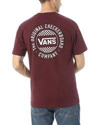 Vans Og Checker Circle Fill T-shirt - Rot