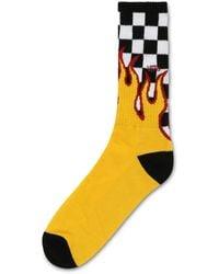 Vans Flame Check Crew Socks - Black