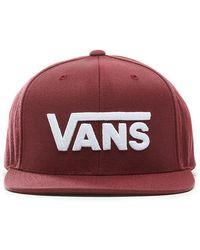 Vans Drop V Snapback Pet - Rood