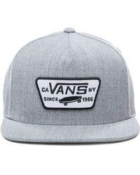 Vans Full Patch Snapback Kappe - Grau