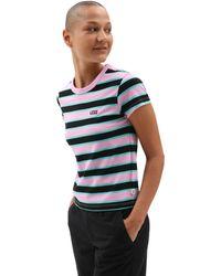 Vans Big Stripe T-shirt - Schwarz
