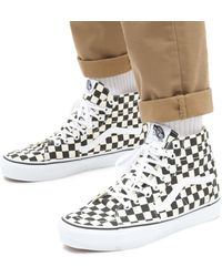 Vans Checkerboard Sk8-hi Tapered Schuhe - Schwarz