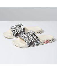 Vans Sandales Lady Slide-on - Blanc