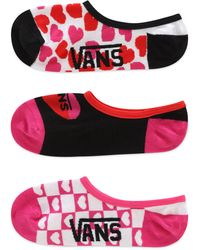 Vans Calcetines Invisibles Lola Hearts Canoodle - Rojo