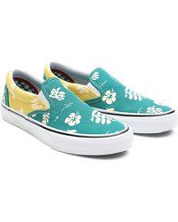 Vans Chaussures Skate Aloha Slip-on - Bleu