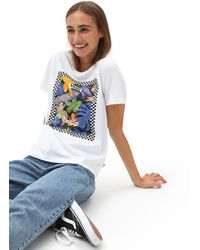 Vans T-shirt Border Box Trop - Blanc