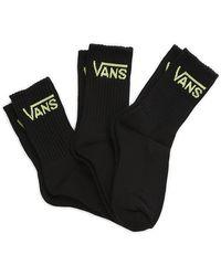 Vans Classic Crew Socken Für Damen - Schwarz