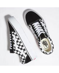 Vans Chaussures Checkerboard Old Skool Platform - Noir