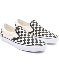 Vans Checkerboard Classic Slip-on Schuhe - Schwarz
