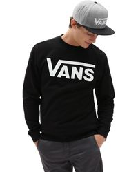 Vans Sweatshirt In Zwart V00yx0y28 - Wit