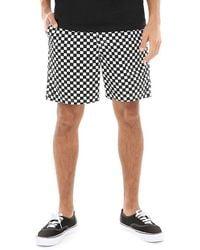Vans Range Shorts 18 Checkerboard - Schwarz