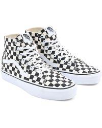 Vans Scarpe Checkerboard Sk8-hi Tapered - Nero