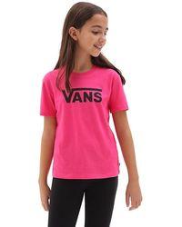Vans Mädchen Flying V Crew T-shirt - Pink