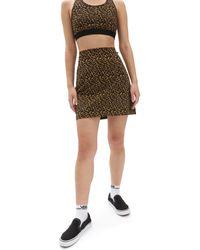 Vans Falda Con Estampado De Leopardo Strauberry - Negro