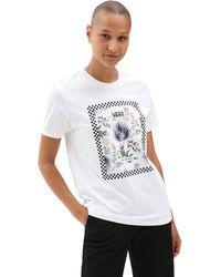 Vans Border Floral Boyfriend T-shirt - Weiß