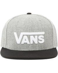 Vans Drop V Snapback Kappe - Grau