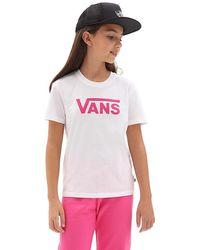 Vans Mädchen Flying V Crew T-shirt - Weiß