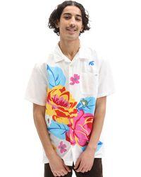 Vans Camicia Intessuta Anaheim Needlework Floral - Bianco