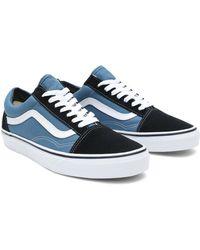 Vans - Unisex-Erwachsene Old Skool Classic Suede/Canvas Sneakers, Teak/Black, 41 EU - Lyst