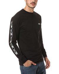 Vans T-shirt A Maniche Lunghe Anaheim Factory Og Skull - Nero
