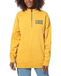 Vans Sign It Mock Zip Crew Sweater - Geel