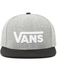 Vans Drop V Snapback Pet - Grijs