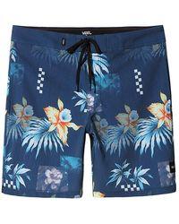 Vans Fountain Valley Floral Boardshorts - Blau