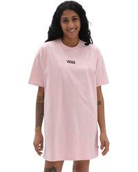 Vans Robe T-shirt Center Vee - Rose