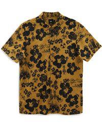 Vans Geweven Dark Aloha Overhemd - Geel