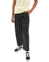 Vans Pantalones A Cuadros Breana Authentic - Negro