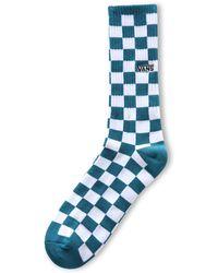 Vans Calzettoni Checkerboard Ii 9.5-13 - Blu