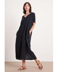 Mango Yana Woven Linen Dress In Black