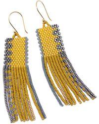 Velvet By Graham & Spencer Paola Beaded Fringe Earrings By Bluma Project - Multicolor