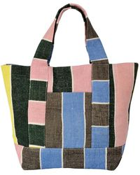 Epice Mini Striped Canvas Bag By - Green