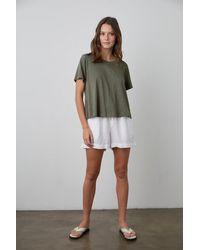Velvet By Graham & Spencer Tammy Drawstring Linen Short - Green