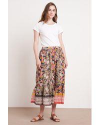 Mango Rosaleen Jaipur Block Print Skirt In Multi - Multicolour