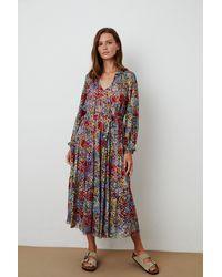 Mango Luana Floral Print Dress In Multi - Multicolour