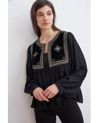 Velvet By Graham & Spencer - Nixi Embellished Drape Jacket - Lyst