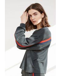 Velvet By Graham & Spencer - Danica Luxe Fleece Stripe Top - Lyst