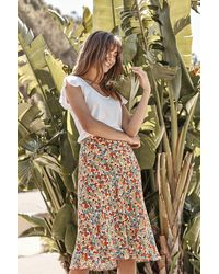 Mango Aila Printed Challis Skirt In Blossom - Multicolour