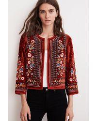 Velvet By Graham & Spencer Nita Velvet Embroidered Jacket