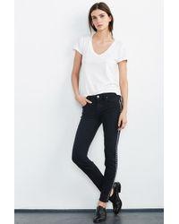 Velvet By Graham & Spencer - Milla Studded Skinny Jean - Lyst