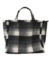 Velvet By Graham & Spencer Frayed Flannel Weekend Bag - Black