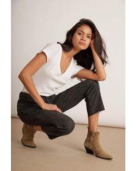 Velvet By Graham & Spencer Karolina Hi Rise Straight Leg Cut Off Jeans - Multicolor